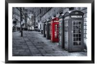 The Red Box, Framed Mounted Print