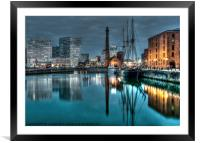 The Pump House painted finish, Framed Mounted Print