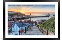 Whitby the 99 Steps, Framed Mounted Print