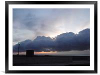 Cloud Lamp, Lake Morning Chicago, Framed Mounted Print