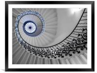 Spiral Stairs, Framed Mounted Print