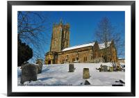 KINGSTON ST MARYS CHURCH SOMERSET, Framed Mounted Print