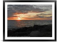 PORTLAND WINTER SUNSET, Framed Mounted Print