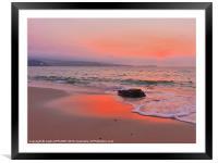 TOWANS BEACH HAYLE AFTER SUNSET, Framed Mounted Print