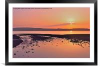 RED SKY NIGHT CUMBRAE DELIGHT, Framed Mounted Print