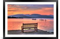 View From The Bench, Framed Mounted Print