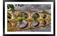 Stirling Old Bridge Reflections, Framed Mounted Print