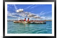 Paddle Steamer Waverley At Weymouth, Framed Mounted Print