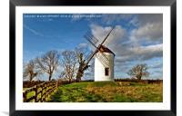 Ashton Windmill Chapel Allerton Somerset, Framed Mounted Print