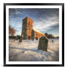 Silence in the Snow, Framed Mounted Print