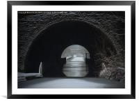 Snowing Oxford Canal Newbold Tunnel, Framed Mounted Print