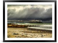 Cromer Pier Storm, Framed Mounted Print