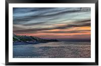 Sunset on Cromer Cliffs, Framed Mounted Print