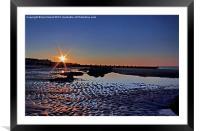 Sunset at Walcott Beach, Framed Mounted Print