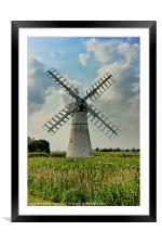 Thurne Dyke Drainage Mill, Framed Mounted Print
