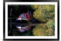 Anyone for coal on the oxford canal, Framed Mounted Print