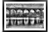 Viaduct at Reddish Vale Country Park, Framed Mounted Print