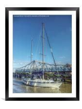 Reedham Swing Bridge and Jo-lene, Framed Mounted Print