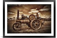 Jem General Purpose Engine in sepia, Framed Mounted Print