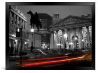 Bank of England & Royal Exchange, London, Framed Print