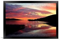 Sunset Over Port Arthur Scalloway, Framed Print