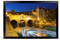 Pulteney Bridge, Bath, UK, evening, Framed Print