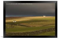 Winter Sun on Bowlees Barns, Teesdale, Framed Print