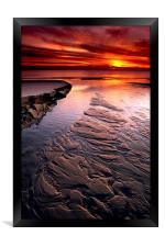 Little Pigeon Creek Sunset at Lake Michigan, Framed Print