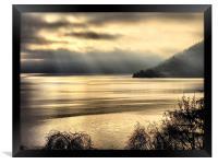 Misty Loch Ness, Framed Print