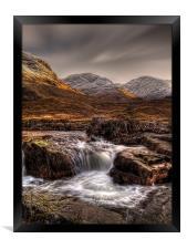 The River Etive, Scotland, Framed Print