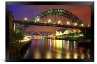 Tyne Bridge at Night, Framed Print
