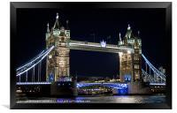 Tower Bridge at night, Framed Print