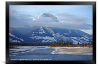 Rockies North of Jasper, Framed Print