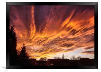 Sunset In Bradford, Framed Print