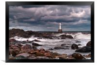 Aberdeen South Breakwater Light, Framed Print