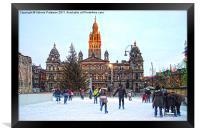 George Square Ice Rink, Framed Print