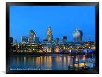 The Cheesegrater and The Walkie Talkie, Framed Print