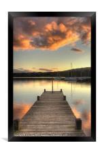 Orange Sky, Framed Print