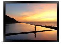 Arty sunset reflection!, Framed Print