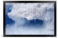 Ice crystals, Framed Print