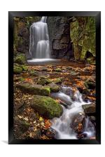 Lumsdale Falls in Autumn , Framed Print