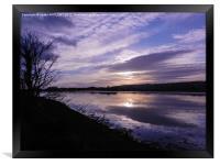 River Axe Axmouth, Framed Print