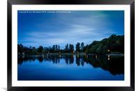 Llandrindod Wells Lake, Framed Mounted Print