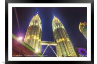 The Petronas Towers, Framed Mounted Print