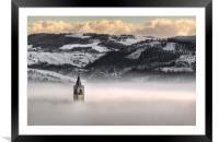 Montorsello fog, Framed Mounted Print
