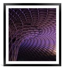 Kings Cross rail station, Framed Mounted Print