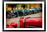 Vintage Aston Martins. , Framed Mounted Print