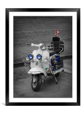Scooter Motorbike, Framed Mounted Print
