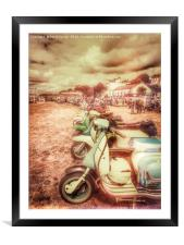 Exmouth National Scooter Rally 2016, Framed Mounted Print