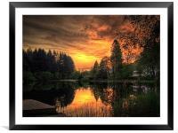 Golden Light On Loch Ard, Framed Mounted Print